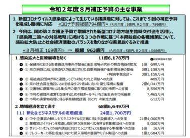 【愛媛県 8月補正予算】