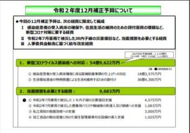【令和2年度12月補正予算について】